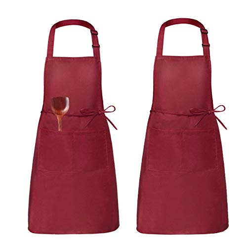 Grill and Baking K59 Duschvorhang Kitchen Oil-Resistant Apron with Pockets Professional Stripe Chef Apron for Cooking
