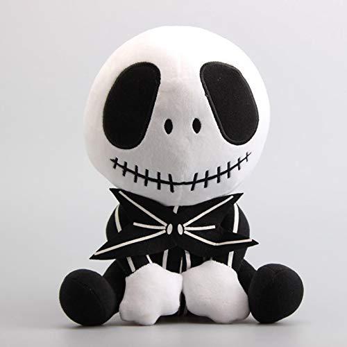 lhtczzb Muñeco De Peluche De Dibujos Animados De 20 Cm Sentado Jack, La Pesadilla Antes De Navidad Figura Jack Esqueleto Juguetes De Peluche Suaves