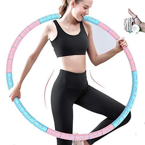ForwardLin Hula Hoop, Hula Hoop Reifen Die Zur Gewichtsreduktion und Massage Verwendet Werden KöNnen, Abnehmbarer Hoola Hoop Reifen Geeignet Für Fitness/Sport/Zuhause/BüRo/Bauchformung…
