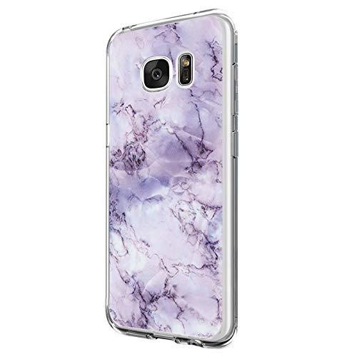Kompatibel mit Samsung Galaxy S6 Edge Hülle Silikon Transparent Schutzhülle Weich Silicone HandyHülle, Mädchen Geschenk Muster Antikratz Design case Bumper Cover für Samsung Galaxy S6 Edge (6)