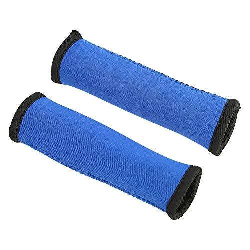Kajakpaddelgriffe, weich komfortabel Kajak Paddelgriffe, 1 Paar Kajak Paddel Griffe Griffbezüge rutschfest Blasen und Schwielen vorbeugen, 15 cm lang, Blau
