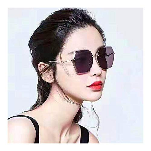 N/A Raffreddare Gli Occhiali da Sole Senza Montatura all'aperto rifilatura vibrato medesimo Comma, Signora Occhiali da Sole Gli Occhiali da Sole (Size : A)
