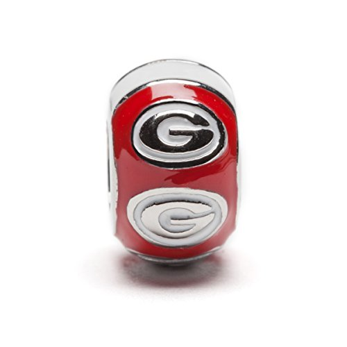 georgia bulldog charm bead - 8