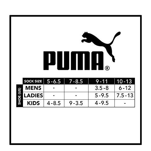 Puma No Show Women's Socks, Moisture Control Mesh Ventilation (8 Pair) Assorted White Multi Color (White Multi Color)