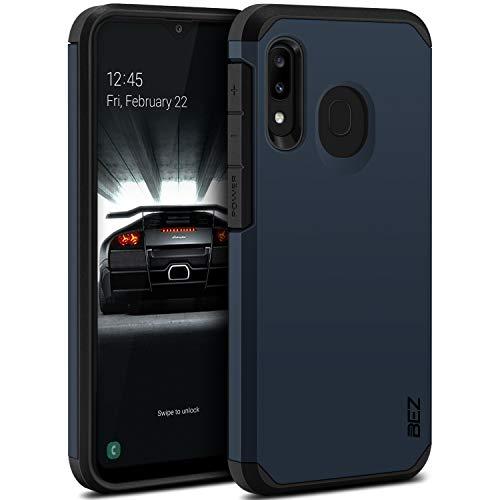 BEZ Handyhülle für Samsung Galaxy A20e Hülle, Tasche Stoßfestes Kompatibel für Samsung A20e, [Heavy Duty Serie] Outdoor Dual Layer Armor Hülle Handy Schutzhülle Robuste, Dunkelblau