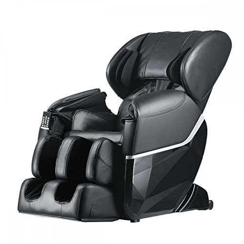 Healthy Relaxing Comfortable Electric Best Massage Recliner Chair Full Body W/Heat Foot Stretched Ergonomic Deluxe Zero Gravity, Black