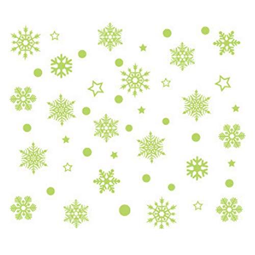 Fenêtre, étoiles, flocon de neige, veilleuse flocon de neige, forme de flocon de neige, décoration murale, autocollant pour chambre d'enfant