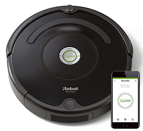 iRobot Roomba 671 Robot aspirador suelos duros y alfombras,  tecnología Dirt Detect,  limpieza en 3 fases,  Wifi,  programable por app,  compatible con Alexa,  Negro