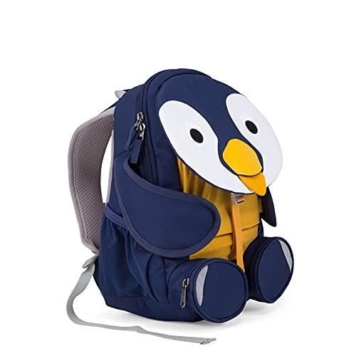 Affenzahn Kinderrucksack für 3-5 Jährige im Kindergarten - Polly Pinguin - Blau