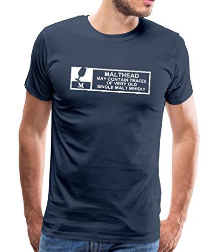 Malthead Warning Männer Premium T-Shirt, XXL, Navy