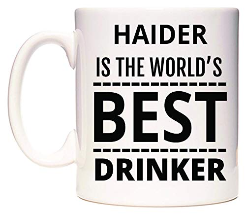WeDoMugs Haider is The World's Best Drinker Becher