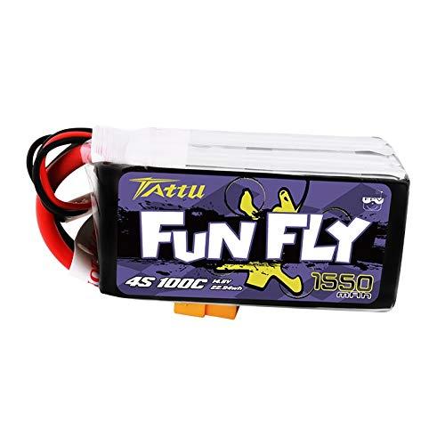 OUYBO Ace Tattu funfly 1300mAh 1550mAh 1800mAh 3s 4s 6s 100C 12.6V 16.8V 25.2V Lipo batteria XT60 Plug FPV 250 230 210 180 Dimensioni Drone Accessori per batterie di parti RC