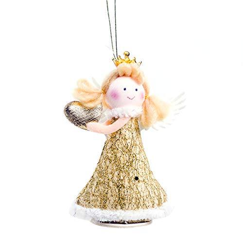 TankMR kerstboom om om op te hangen, versieringen, decoraties voor het seizoen, festival, ophangen van leveringen, knutselen, ramen, party, decoratie, cadeau Coeur D'amour Doré
