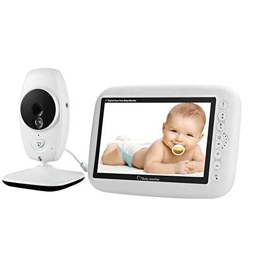 Vigilabebés con cámara grabadora Pantalla LCD HD de 7,0 Pulgadas Resolución 1280 720 Micrófono y Altavoz Integrados