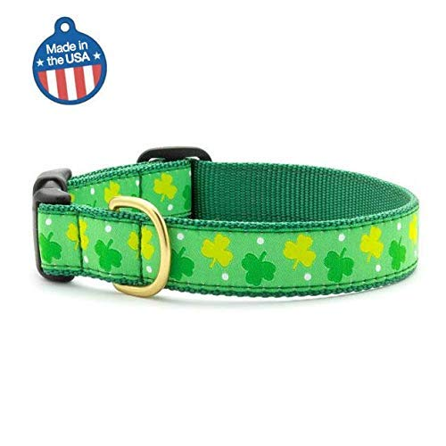 Up Country Shamrock Dog Collar Narrow Small 8'-15'