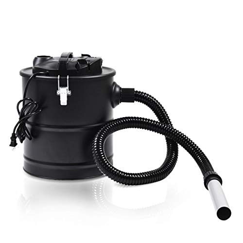 Find Bargain 5.3 Gallon 1000W Ash Vacuum Cleaner Aluminum Reinforced Hose Designed for Barbecues, Fi...