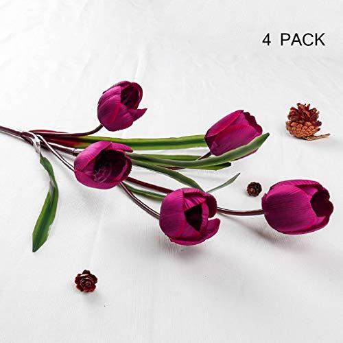 Sarazong Tulipe Fleur Artificielle Bourgeon Fleur Faux Fleur Salon Ameublement Faux Fleur Faux Fleur, Fleur Artificielle pour La Décoration Intérieure,E
