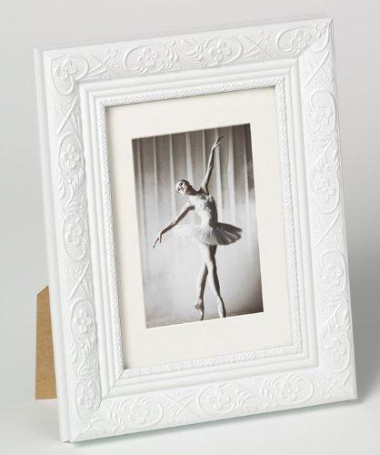 Bilderrahmen von Walther Holzrahmen Barock 20x30 Weiß - Normalglas 2er Pack