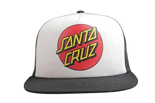 Santa Cruz Cap Classic Dot Mesh, White/Black, One Size
