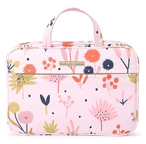 Tuscall Kulturtasche zum Aufhängen Große Kulturbeutel mit Haken Waschbeutel für Damen (Blume)