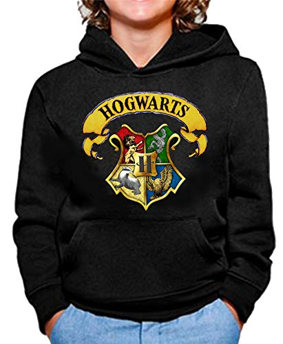 Sudadera de NIÑOS Harry Potter Hogwarts Slytherin Gryffindor 015