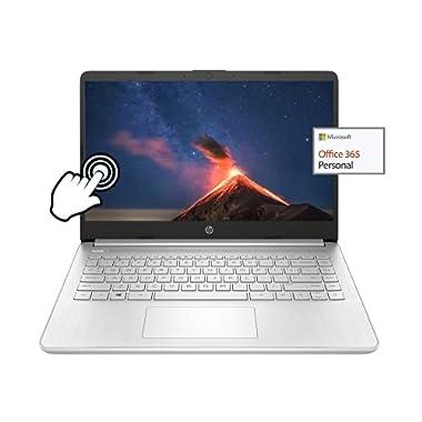 2021 Newest HP 14″ Touchscreen Ultra Light Laptop, Micro-Edge HD Display, AMD 3050U(Up to 3.2GHz), 8GB RAM, 64 GB eMMC+256GB SSD, 1 Year Office 365, Webcam, HDMI, WiFi, w/GM Accessories