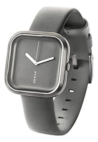Hygge vari - grigio pietra orologio unisex al quarzo con grigio con display analogico quadrante grigio e cinturino in HE- 02-071