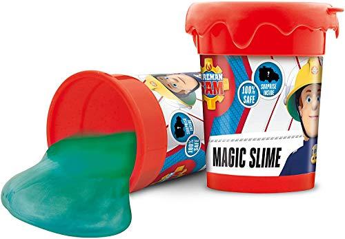 MAGIC SLIME FIREMAN SAM mucus mágico para niños en lata 150 g de arcilla incl. Figura de bombero 16626 , color/modelo surtido