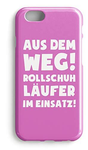 shirt-o-magic Handyhülle Rollschuhe: Rollschuhläufer im Einsatz! - Case -iPhone 6s-Pink