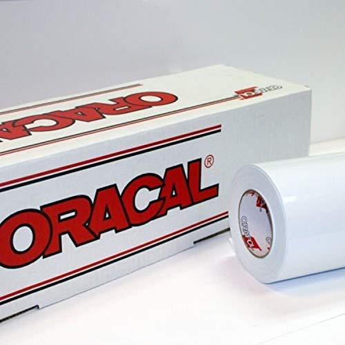 "24"" x 30 Ft Roll of Oracal 651 White Vinyl on 3 Inch Core for Craft Cutters and Vinyl Sign Cutters"