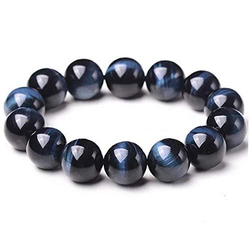 1PC Beaded Gemstone Bracelets 8mm Natural Stone Lava Rock Bracelet Blue Tiger Eye Bracelet Boho Jewelry for Men and Women Jewelry