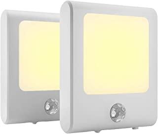 MAZ-TEK Plug in Motion Sensor Lights with Adjustable Brightness,Warm White Motion Activated Led Night Light for Hallway, S...