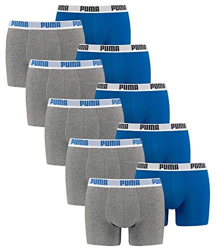 10 er Pack Puma Boxer shorts / blau grau / Size M / Herren Unterhose