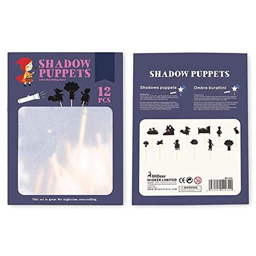 LIUCHANG 12 stücke Kinder Shadow Puppen- Educational Silhouette Spiel Interessante Schattenbild Eltern-Kind-Interaktion Erkenntnisspiel liuchang20