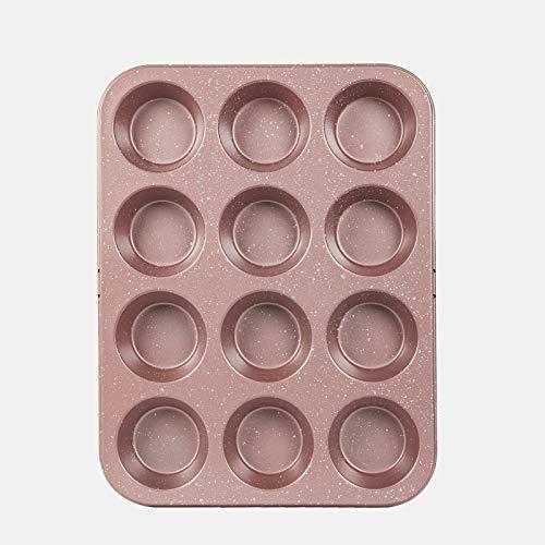 Cook with Color Bakeware ノンスティックカップケーキパン 斑点12カップ マフィン缶 ベーキング型 (ローズゴールド)