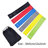 Cool-House Resistance Bands Set 0.45mm-1.4mm Heavy Thick Rubber Loops Pilates Yoga Training Sports Fitness Crossfit Workout Equipment-6PCS 30cm-