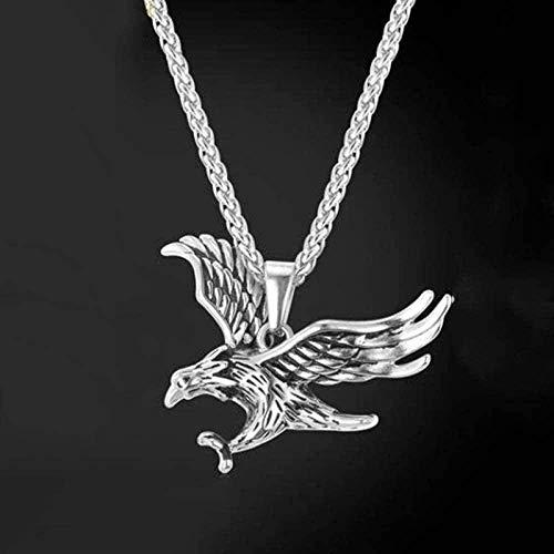 LBBYMX Co.,ltd Collar de Moda King of Sky Eagle Collar con Colgante de Acero Inoxidable para Hombres Joyería de Fiesta de Rock