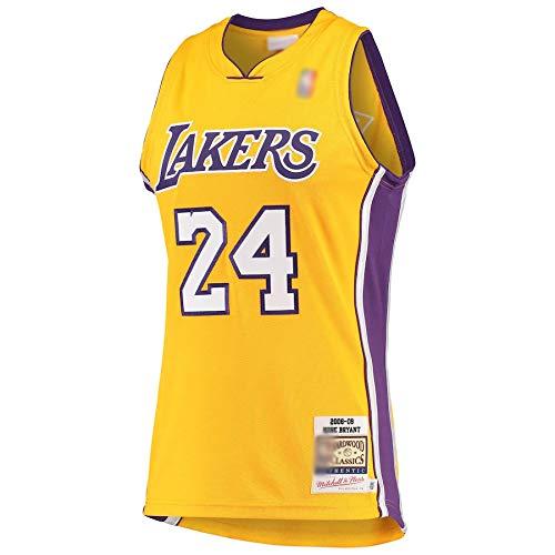 Camiseta de baloncesto al aire libre Kobe Los Angeles NO.24 Lakers Bryant Hardwood Classics 2008-09 Jersey de secado rápido deportes de manga corta para hombres-oro