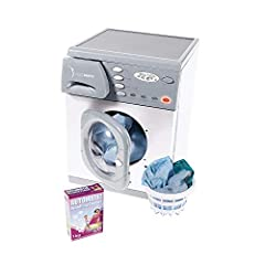 Top Quality Replica Washer for role play fun Electronic toy featuring lights, spinning drum and washing sounds Wash basket and a play washing powder carton supplied Casdons Electronic Microwave toy is a timeless classic unsurpassed throughout the wor...