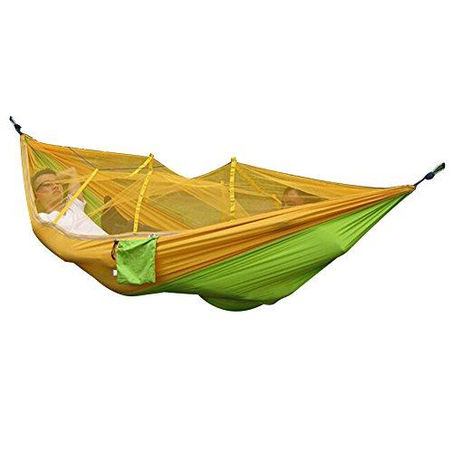 Bureze ultraléger Parachute Hamac de Couchage Moustiquaire pour la Chasse Couple Meubles d'extérieur Camping Hamac Dropshipping