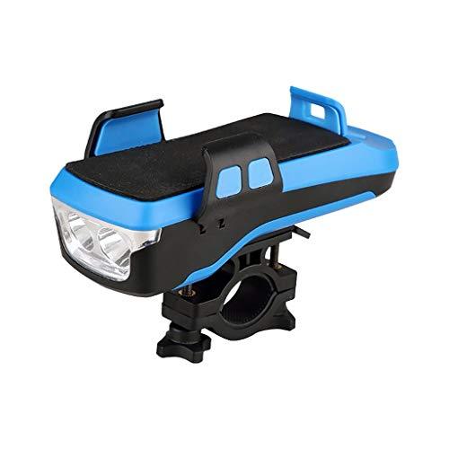 Koojawind 4 en 1 Multi-Finition Phare de vélo LED vélo Haut-Parleur Support de téléphone USB vélo lumières Nuit équitation phares