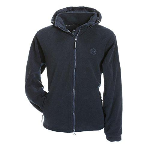 BMS Fleece Windsmoother Kapuzen-Jacke, Marine, Größe M