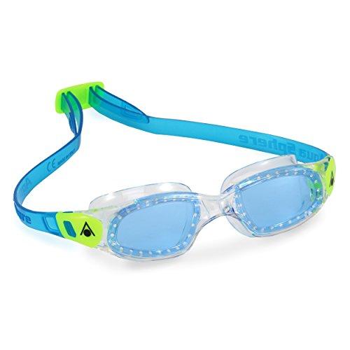 Aqua Sphere Kinder Schwimmbrille Kameleon Kid Kleinkind Blau Linse Transparent Limette Regular
