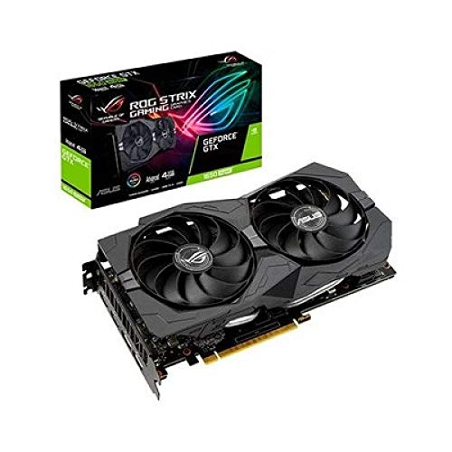 ASUS ROG Strix Nvidia GeForce GTX 1650 Super 4GB Advanced Edition Gaming Grafikkarte (GDDR6 Speicher, PCIe 3.0, 2x HDMI 2.0b, 2x DisplayPort 1.4, ROG-STRIX-GTX1650S-A4G-GAMING)