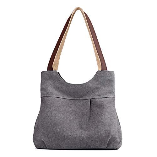 Kassar kvinnliga 2020 nya vinter fold bag lady handväska fritid vilda mode färg axelväska TOM-EU (Color : Grey)