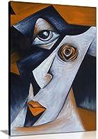 キュービズムハーレクイン モダンキャンバスウォールアート ピクチャープリント 61x41 cm (24x16in) 5060694363404