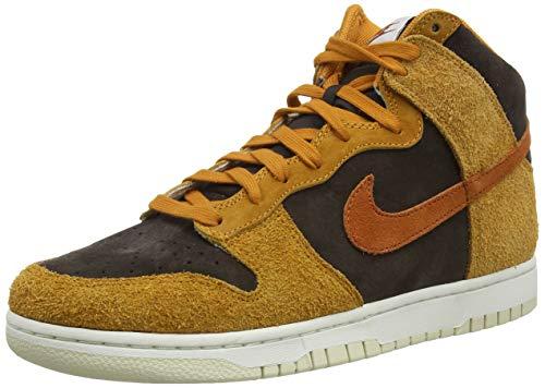 Nike Dunk HI Retro PRM, Zapatillas de bsquetbol Hombre, Velvet Brown Dk Russet Dk Curry Sail Fossil, 48.5 EU