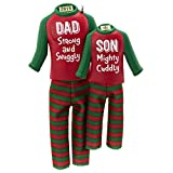 Hallmark Keepsake Ornament 2019 Year Dated Dad and Son Matching Christmas Pajamas, Fabric, 12'