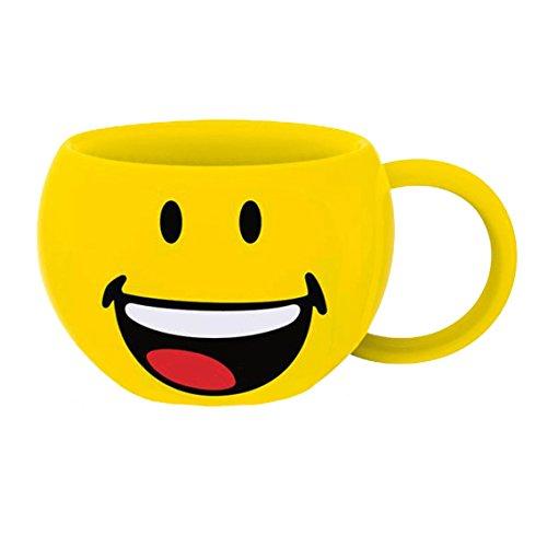 zak! Jumbo-Tasse Smiley-Lachen 640ml, Porzellan, Mehrfarbig, 14 x 14 x 8.5 cm