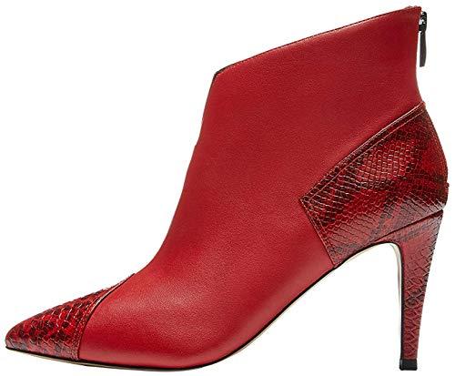 find. Contrast Heel, Botines Mujer, Rojo (Red), 40 EU (Zapatos)